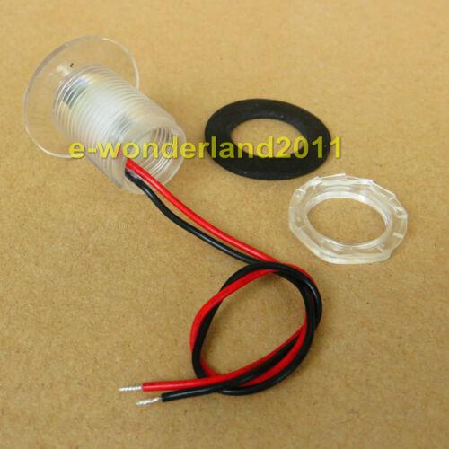 2×12V Waterproof LED Courtesy Light Livewell Bait Tank//Garden//Boat Lamp White
