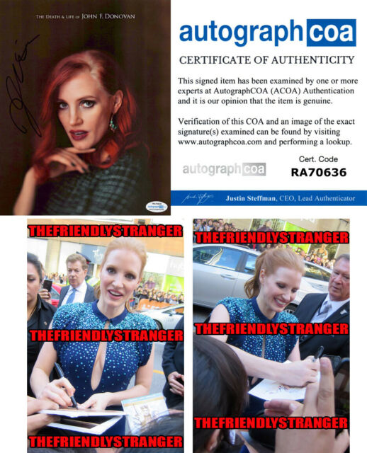 JESSICA CHASTAIN signed