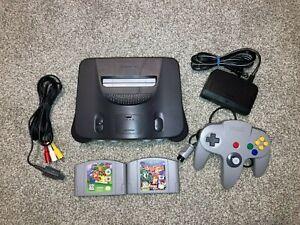 Nintendo-64-N64-Bundle-Lot-1-Controller-Tight-2-Games-Mario-Banjo-Tested-Nice