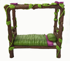 Miniature Fairy and Baby Gnome Bed - a 4-Post Miniature Bed for your Fairy