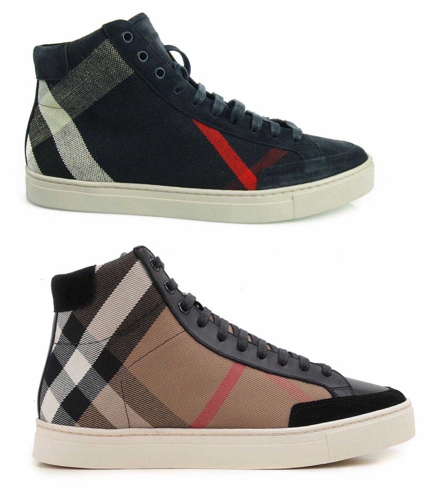 BURBERRY  SNEAKERS MAN HI TOP Zapatos Zapatos  BURBERRY HERRENSHUHE Zapatos Hombre 100%AUT. 1d3c97