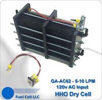 Hho Dry Cell - Big 62 Plate 5-10+ Lpm 120v Ac Power (massive Hydrogen Generator)