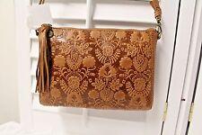The Sak Tooled leather Shoulder Bag Crossbody NWT Tassel Retail $100