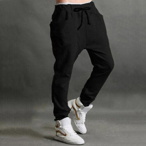 Herren Mode Jogger Tanz Sportbekleidung Baggy Haremshose Hosen Hose Jogginghose