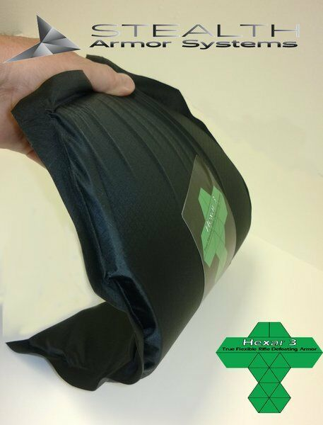 Hexar NIJ level 3 flexible rifle armor 10 x 12 Sized Shooters Cut - Stand Alone