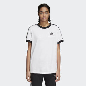 4152cba31b NEW WOMEN'S ADIDAS ORIGINALS 3-STRIPES TEE [CY4754] WHITE // BLACK ...