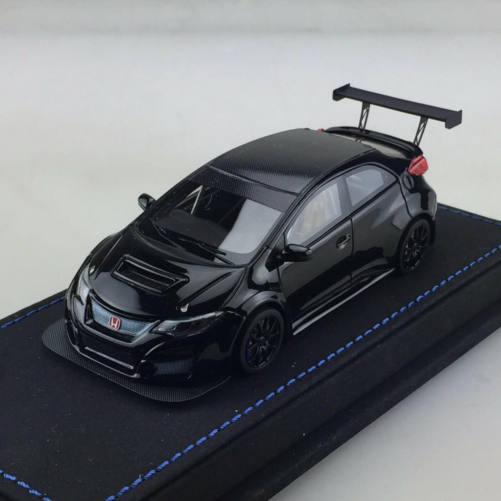 1/43 Peako Honda Civic FK2 coche de prueba de carrera TRC Jac 2018 Negro Ltd 30 Pcs WTCC