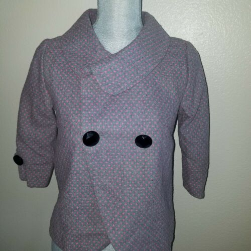 Peter pan collar jacket small