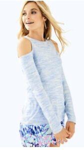 f219d85e6d5f5 NWT Lilly Pulitzer Lyon Off The Shoulder Lapis Blue Top Size Xl  98 ...