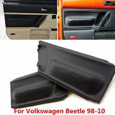 For Volkswagen Beetle 1998 10 Front Door Panel Insert Cards Leather Cover Black Fits 2004 Volkswagen Beetle