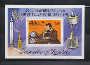 Liberia-1976-Bell-Telephone-MS-Sc-C212-Mint-Never-Hinged