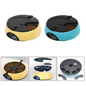 6-Meal-Timed-Automatic-Pet-Feeder-Auto-Dog-Cat-Food-Bowl-Dispenser-Programmable