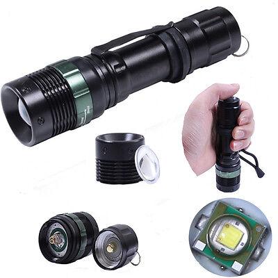 300 Lumen Zoomable CREE XM-L Q5 LED Flashlight Torch Zoom Lamp Light Black