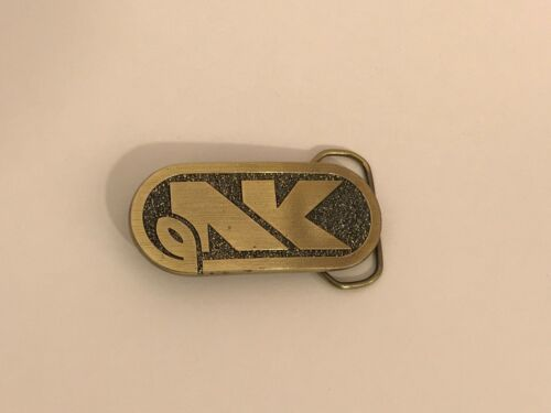 Brass Belt Buckle NK Northrup King Corn Seed the Great American Buckle Co.