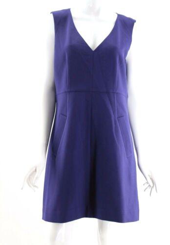 Diane Von Furstenberg Purple Deep V-Neck Sheath Ha