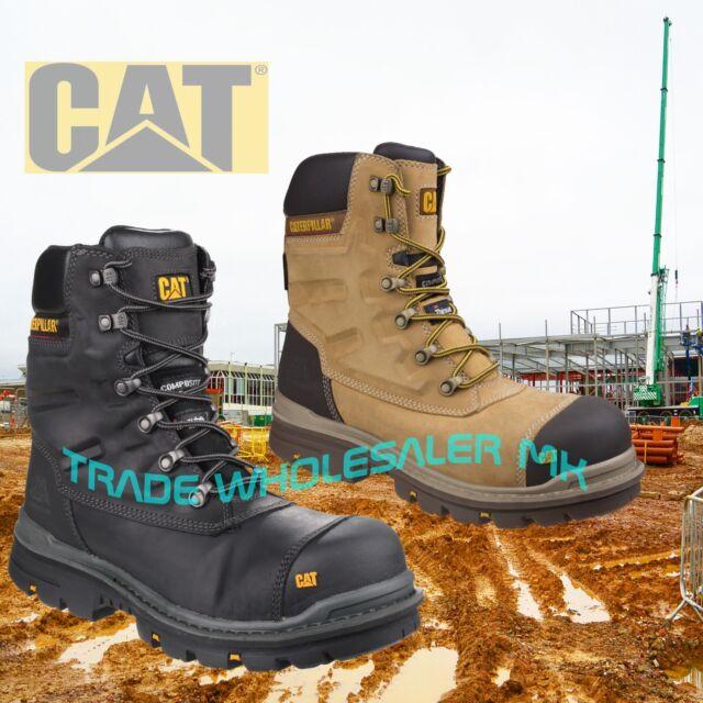 b63be7b2297 Caterpillar CAT Premier S3 Safety Combat Side-Zip Boots & Midsole sizes 6-12