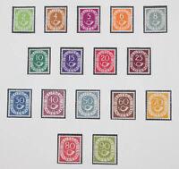Bundesrepublik 1949/95 postfrische Sammlung komplett mit Posthorn in 4 Lindner
