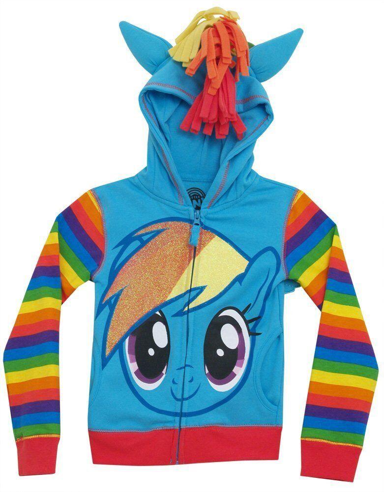 My Little Pony Filles Sweat//Veste Jogging de surv/êtement Bleu 3//4//5//6 Ans