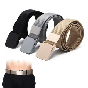 115cm-Length-Outdoor-Military-Tactical-Belt-Plastic-Buckle-Nylon-Waist-BeltFBDU