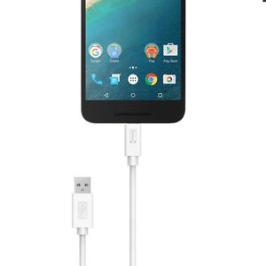 Details about 6 Feet White USB Sync&Charge Fast Charger Cable Cord for  Boost Mobile ZTE Warp 7
