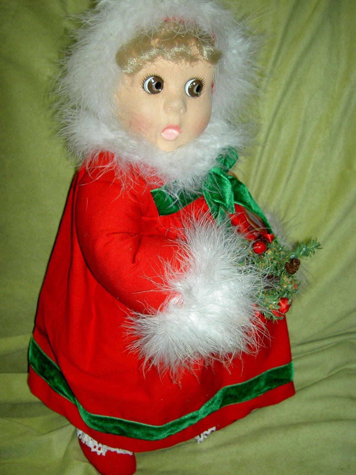 Gran Lenci  Baby Noel  1998 Peluche  sorprendido  ojos con etiqueta Certificado de Autenticidad l'td. Ed.