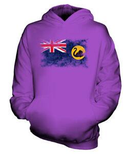 WESTERN AUSTRALIA WEINLESE FLAGGE KINDER KAPUZENPULLOVER HOODIE JUNGEN MÄDCHEN