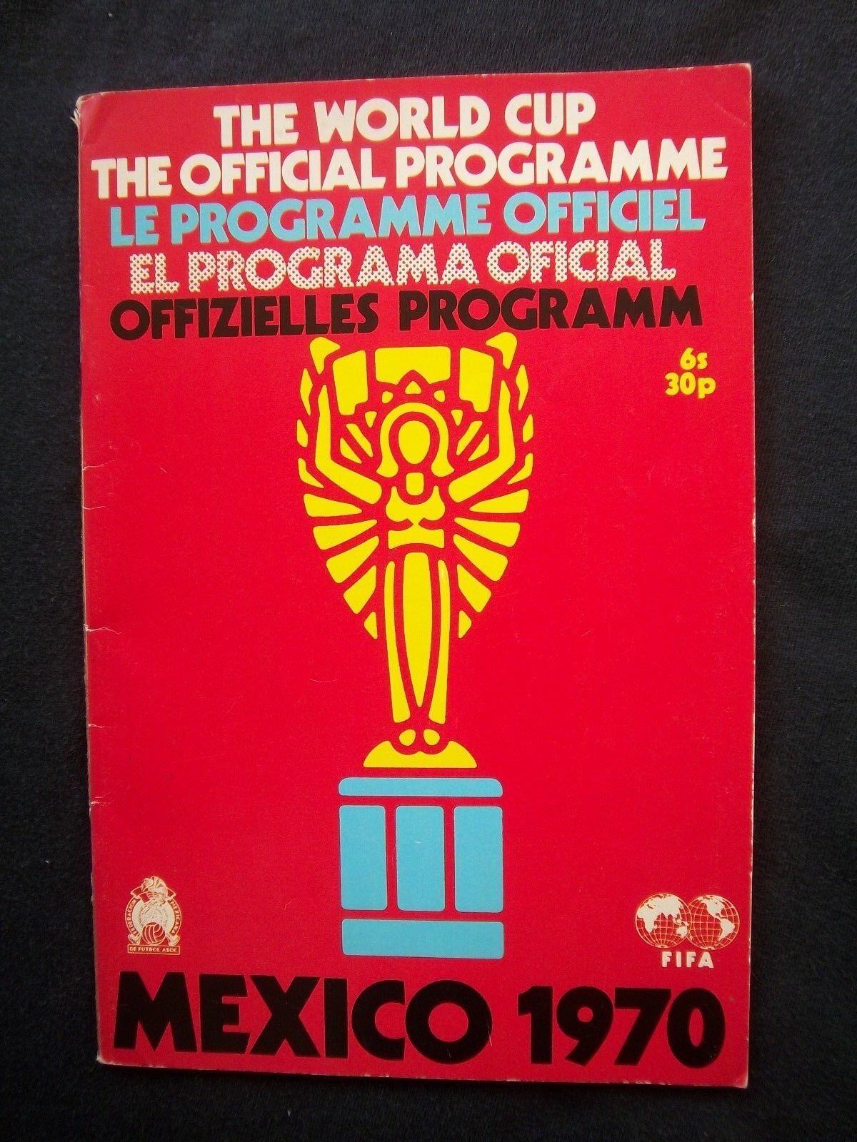 Orig.Komplette Orig.Komplette Orig.Komplette PRG  Weltmeisterschaft   WM MEXICO 1970 - in 4 Sprachen   RARITÄT  | Helle Farben  bb9829
