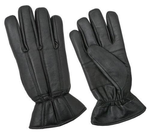 Genuine Leather Uomo Guanti Invernali medicazione moto guida scalda mano