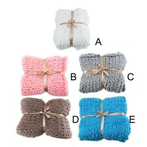 Large-Warm-Hand-Knitted-Blanket-Wool-Thick-Line-Yarn-Winter-Chunky-Sofa-Throw