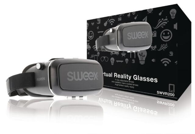 Sweex Virtual-Reality-Brille mit 4-fach verstellbaren Linsen