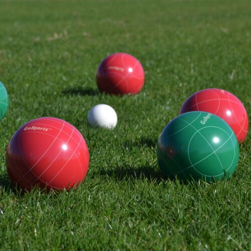 9 Piece with Carry Case 4 Players GoSports Premium 100mm Bocce Ball Set