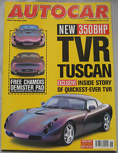 AUTOCAR-magazine-11-11-1998-featuring-TVR-Tuscan-Fiat-Coupe-BMW