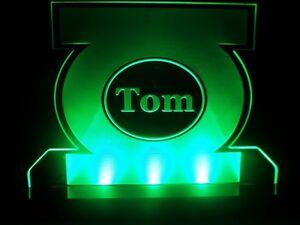 acerca Habitación Luz personalizado Multi original Verde Niños título Lámpara mostrar Color signo Noche nombre Detalles de Acrílico Linterna de ON8nm0vw