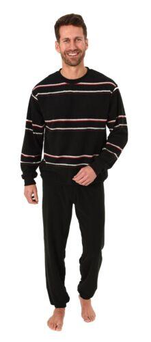 Eleganter Herren Frottee Pyjama Schlafanzug mit Bündchen 281 101 93 708