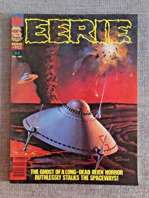 EERIE #113 WARREN MAGAZINE 1980 JIM LAURIER COVER ALFREDO ALCALA E. R. CRUZ