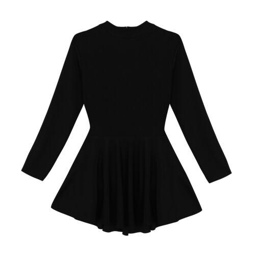 Women Adult Lyrical Ballet Dress Gymnastics Tutu Skirt Skate Dance Dress Leotard