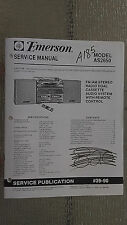 Emerson as2650 service manual original repair book stereo system tuner radio