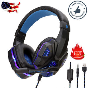 For-PS4-Xbox-Nintendo-Switch-PC-3-5mm-Stereo-Headphones-Mic-LED-Gaming-Headset