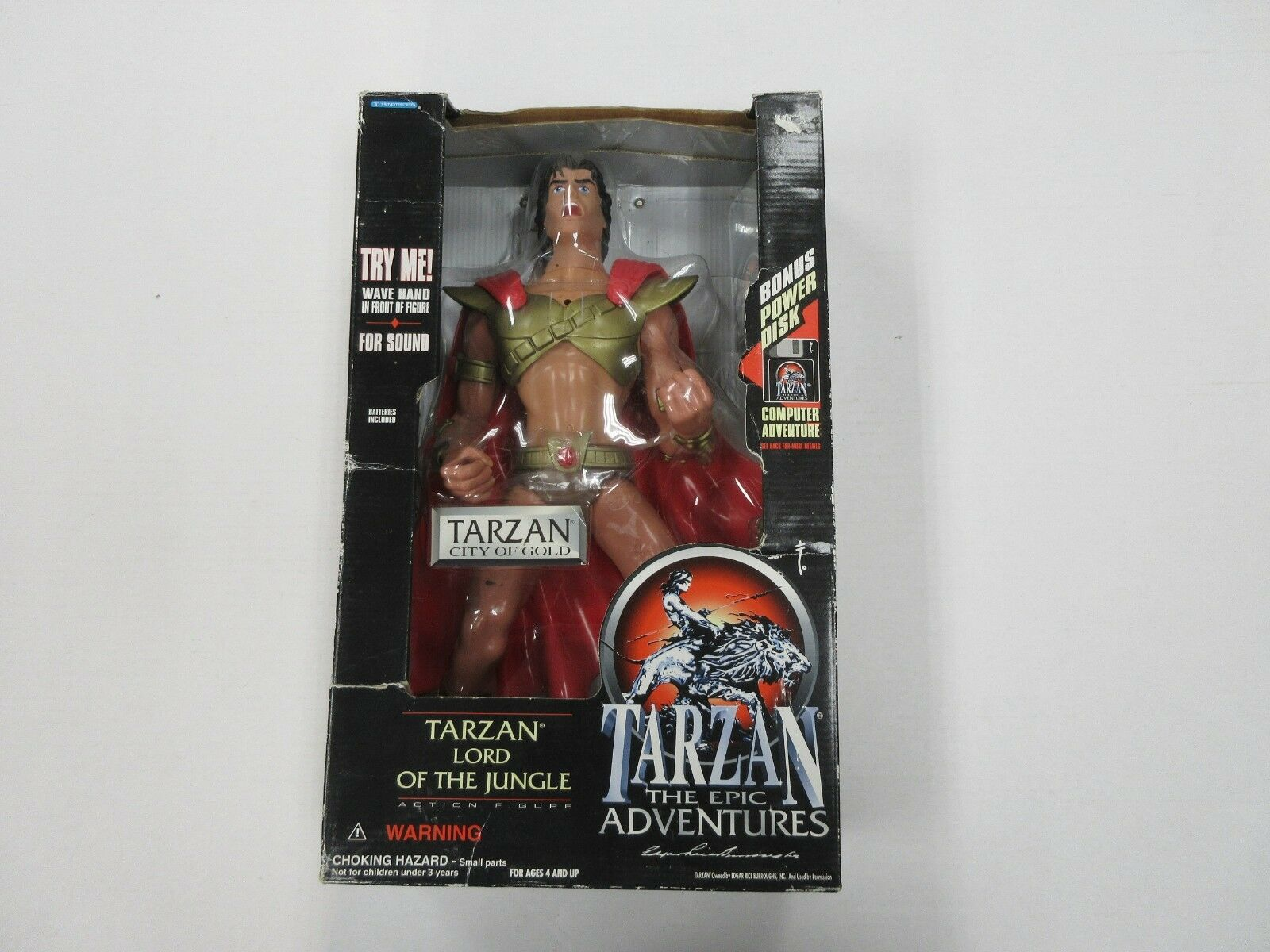 1995 TRENDMASTERS TARZAN CITY OF GOLD LARGE FIGURE SEALED