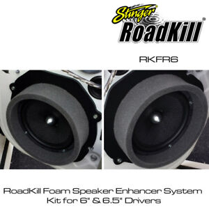 "Details about Stinger Roadkill Fast Rings 8"" / 8.8"" Speaker Foam Pad Ring  Baffle Kit"