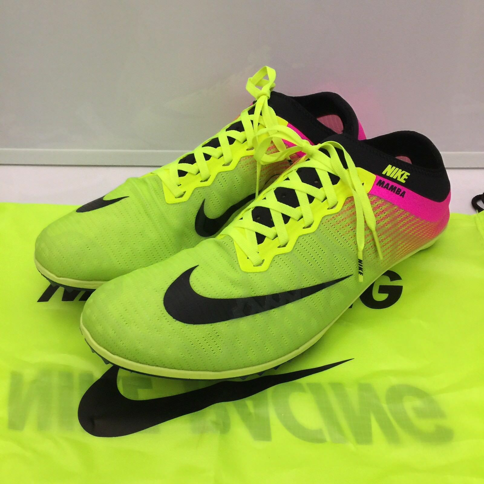 NIKE ZOOM MAMBA 3 OC RIO RACING TRACK SPIKES VOLT BLACK PINK Price reduction Price reduction Seasonal clearance sale