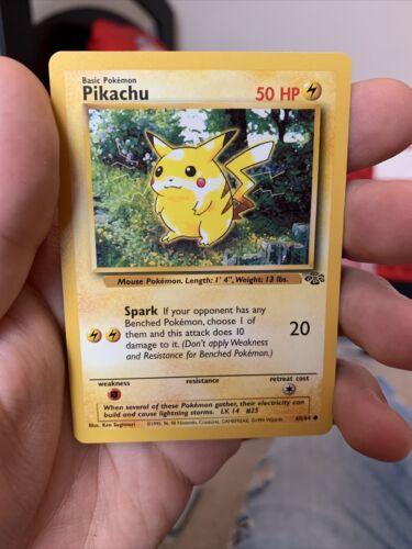 NM Common Pikachu 60//64 Jungle Set Pokemon Card Unlimited Edition