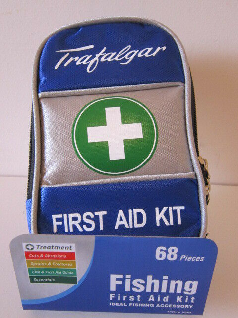 FIRST AID KIT. 68pc. BASIC EMERGENCY KIT with STORAGE BAG.