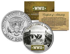 World-War-II-D-DAY-INVASION-1944-JFK-Kennedy-Half-Dollar-US-Coin