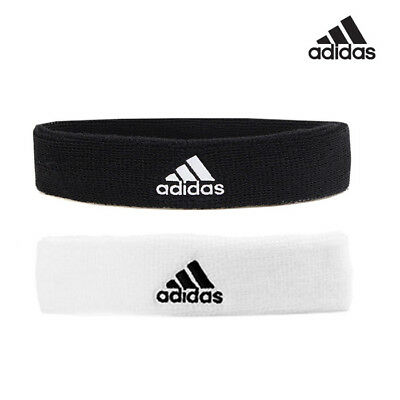 Complaciente testigo Realizable  Adidas Headband Hairband Sweatband White Black | eBay
