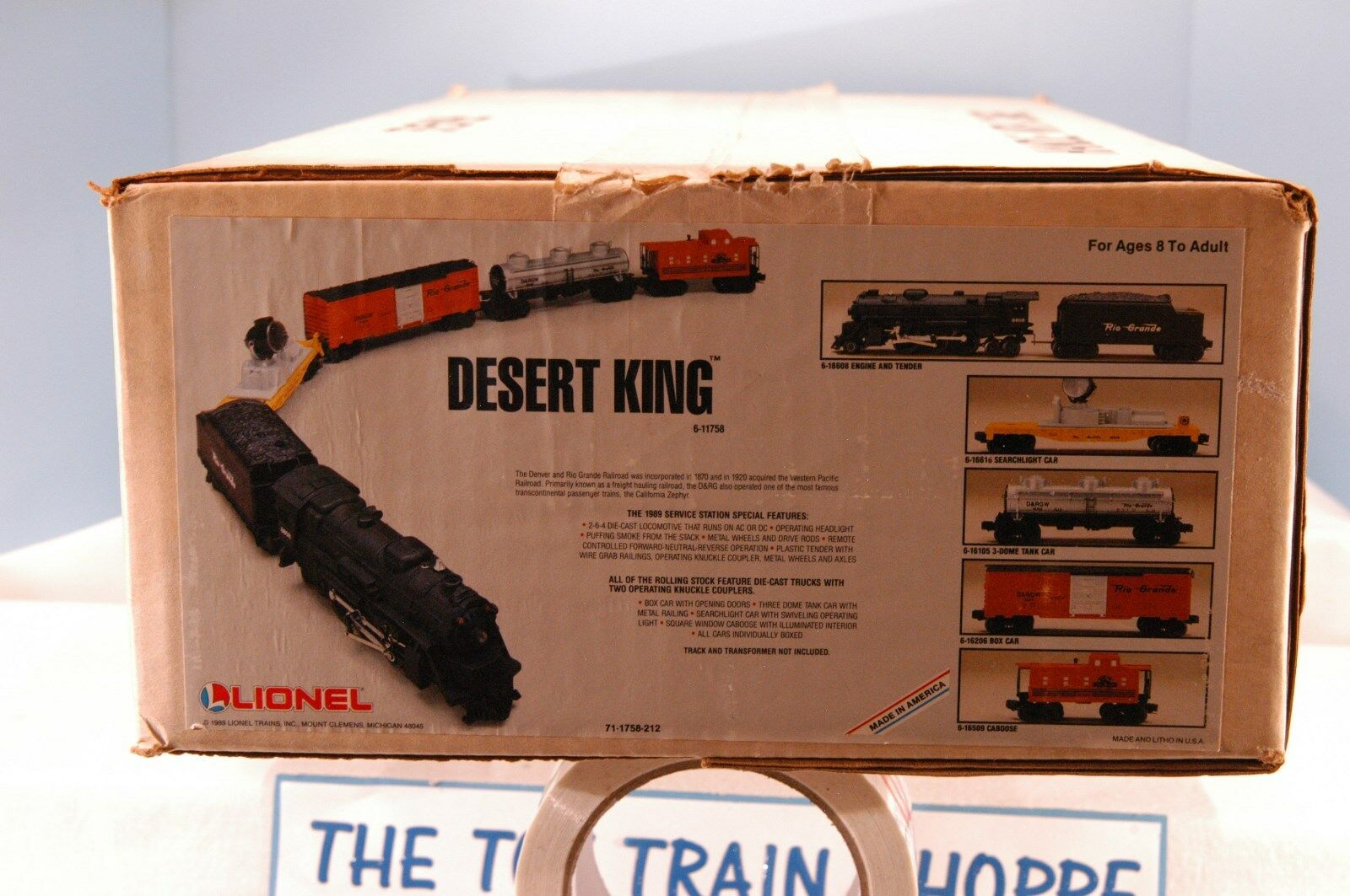 LIONEL 6-11758 DENVER & RIO GRANDE DESERT KING FREIGHT SET. NEW IN SEALED BOX