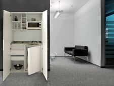 Respekta Singolo cucina Ufficio Pantry Mini Armadio Bianco Grigio | eBay