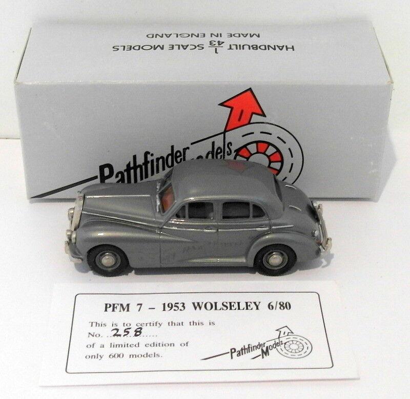 PATHFINDER modelli in scala 1/43 pfm7 - 1953 Wolseley 6/80 1 di 600 Argento Metallico