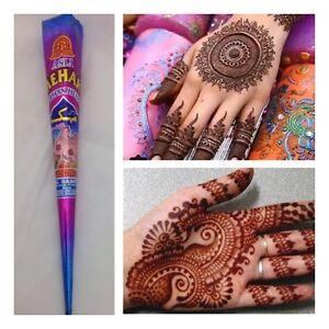 Heena Mehak Mehndi Tattoo Kit Cones Pen Fresh Hand Made Henna Cone