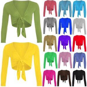 Nouveau-Femme-Women-039-s-Tie-Up-Crop-Shrug-Wrap-Bolero-Cardigan-Top-Grandes-Tailles-8-26
